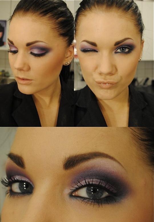 purple + pink makeup - Linda Hallberg