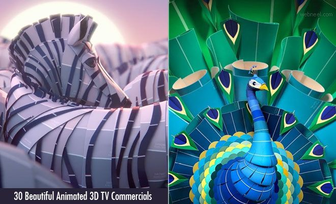 30 Beautiful Animated 3D TV Ads and Motion Graphics Special Effect
