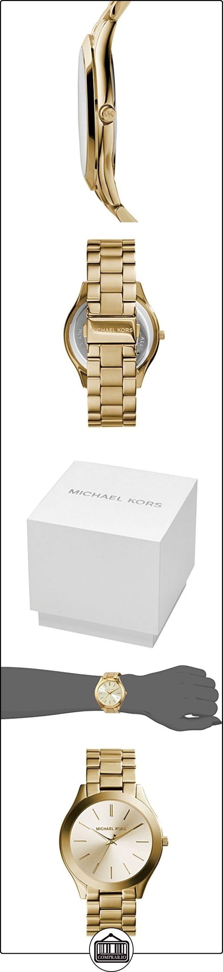 Michael Kors MK3179 - Reloj de cuarzo con correa de acero inoxidable para mujer, color dorado ✿ Relojes para mujer - (Gama media/alta) ✿ #RelojMichaelKorsMujer #RelojMichaelKors #MichaelKorsReloj #RelojMK #RelojMKMujer