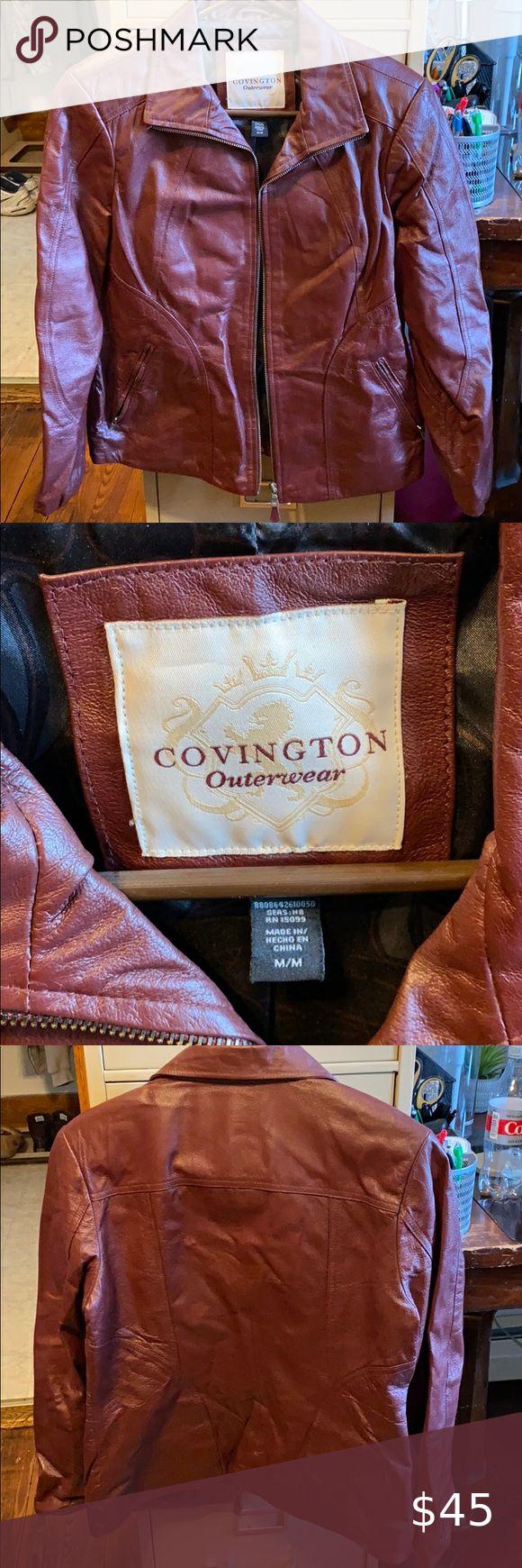 Covington Outerwear Leather Jacket Leather Jacket Jackets Outerwear [ 1740 x 580 Pixel ]