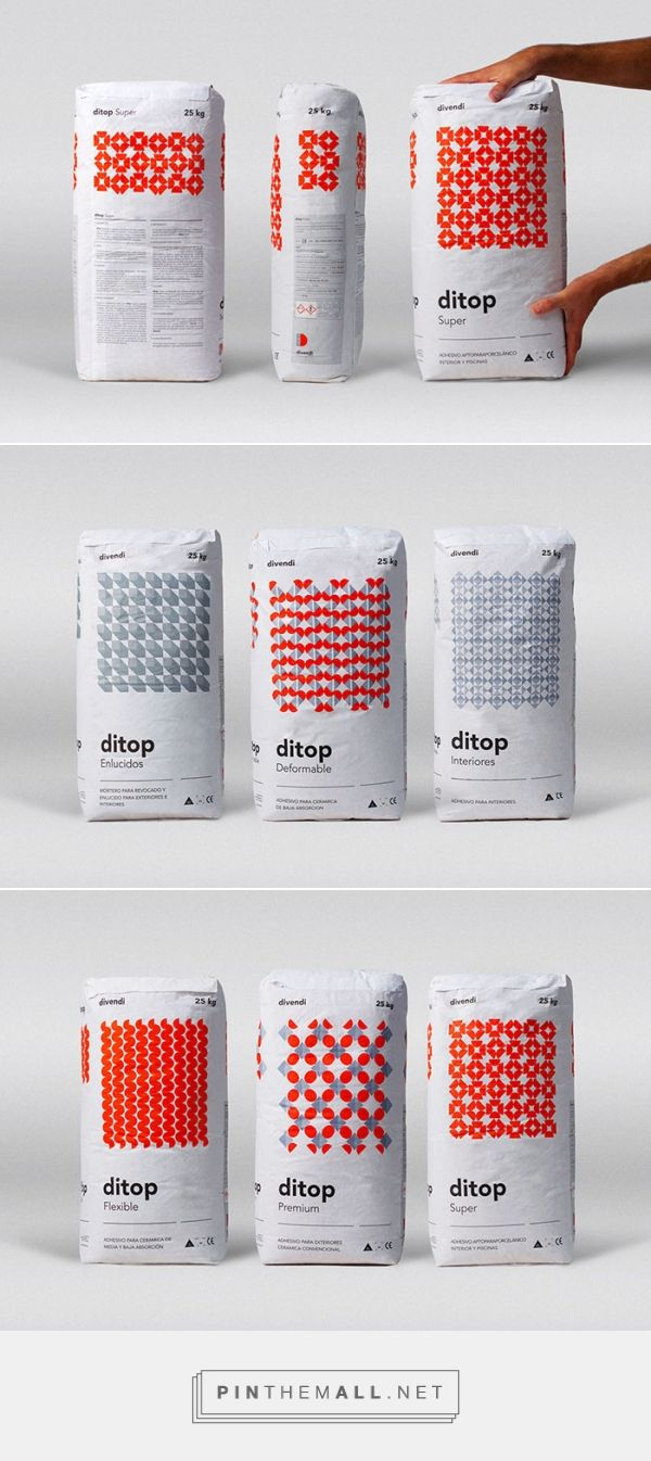 Ditop cement packaging by Rubio & Del Amo. Source: Daily Package Design Inspiration. Pin curated by #SFields99 #packaging #design