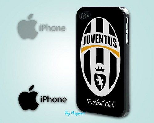 """Juventus Football Club Print on Hard Plastic For iPhone 5 Case, Black Case  This case is available for: iPhone 4/4S iPhone 5/5S iPhone 6 4.7"""" screen Samsung Galaxy S4 Samsung Galaxy S5 iPod 4 iPod 5"""