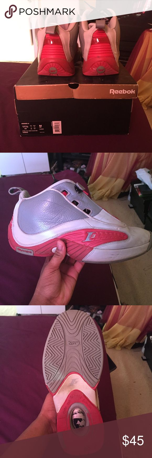 Allen iverson the Answer's still good condition Worn a decent amount great shoe to hoop in Reebok Shoes Sneakers