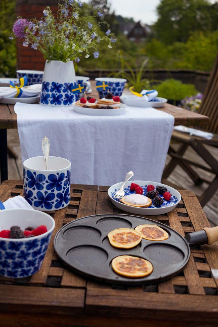 Schwedische Pancake Törtchen, ein schönes Rezept für den Sommer