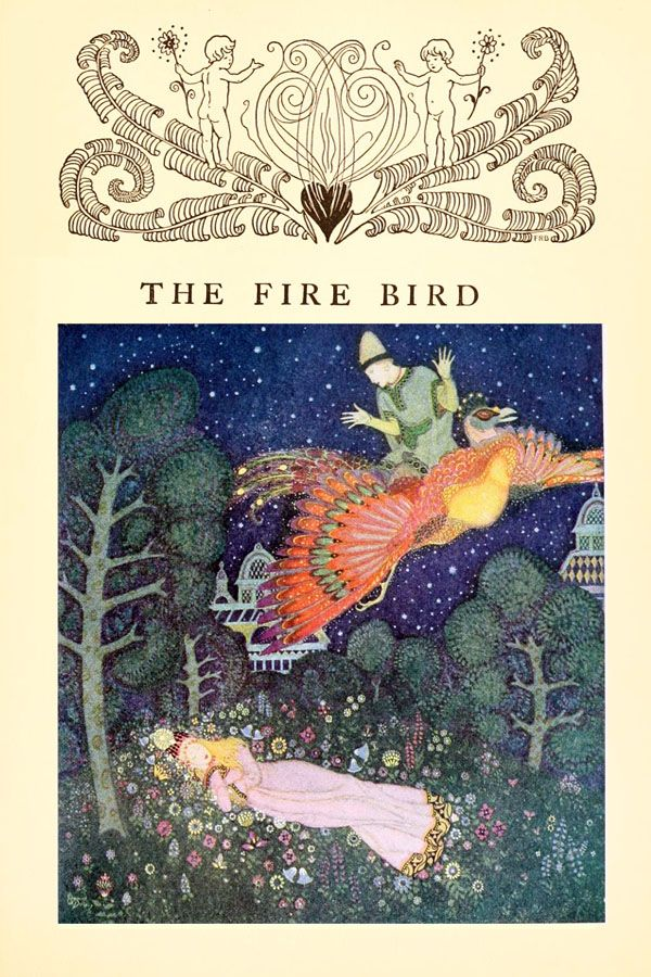 The Fire Bird; A Russian Fairy Tale - Edmund Dulac's Fairy-Book, 1916