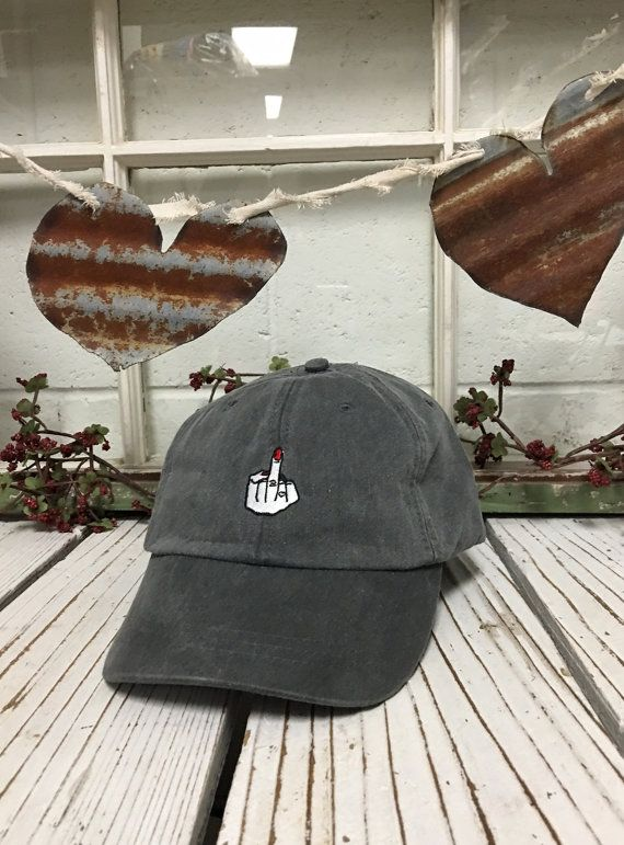 GIRLS MIDDLE FINGER Washed Baseball Hat Low by TheHatConnection