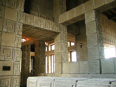 Ennis House Frank Lloyd Wright Textile Block Period 1924 Los Angeles California