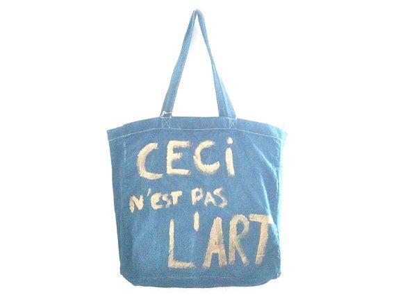 Ceci Nest Pas L'Art Large Shopper / Little by MyLittleFrenchShop, $89.00