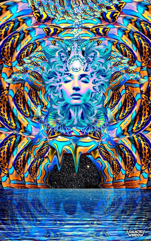 Affiche la sérénité Art mural psychédélique par GalacticWindow