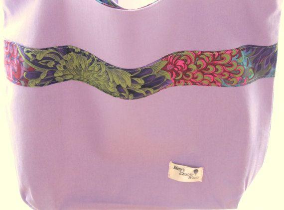 Light Mauve Cotton Bag / Tote Bag / Cute by maryscreativeworld