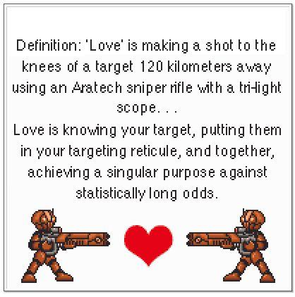 Hk-47 definition of love cross stitch