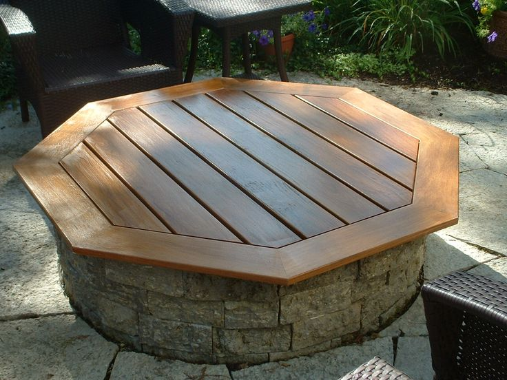 Fire pit table top cover