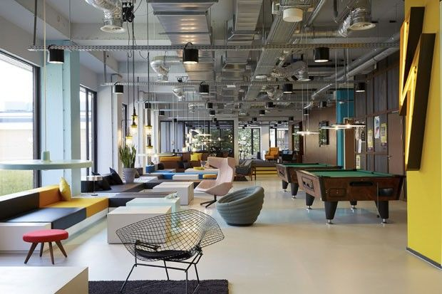 Supercool interior design at The Student Hotel. Hotel and student residence combined. #greetingsfromnl