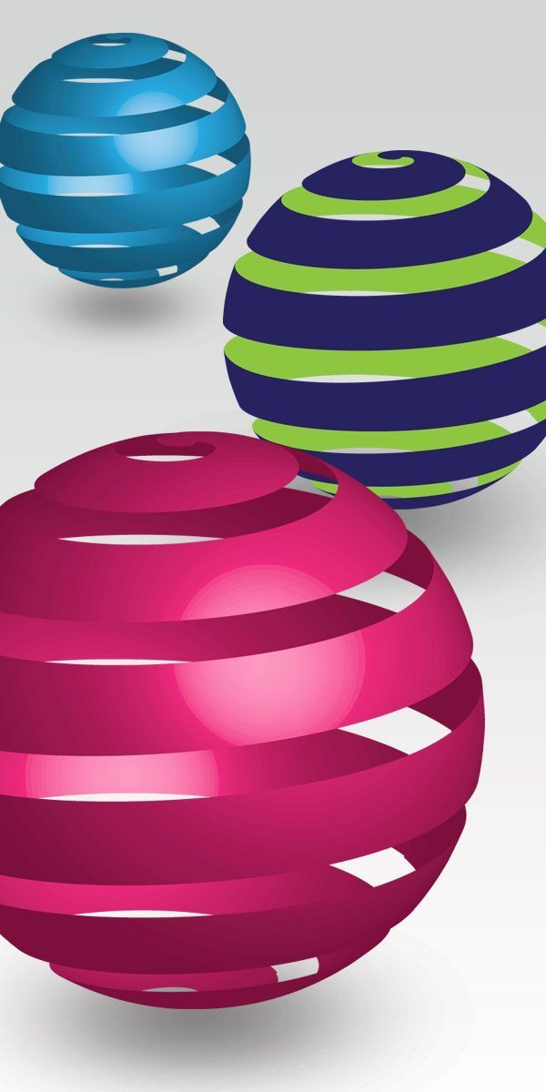 How can draw 3d Rounded Stripes in Adobe Illustrator
