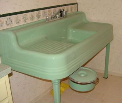 "Farmhouse-Sink-Vintage - I'm not sure what I would give to have a sink like this, but the short answer is ""Quite a bit."""