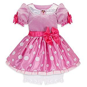 Disney Minnie Mouse Costume for Baby Girls - Pink | Disney StoreMinnie Mouse Costume for Baby Girls - Pink - Shimmering white dots, a glittering pink velvet bodice and satin bow will create quite a statement for your mouse.
