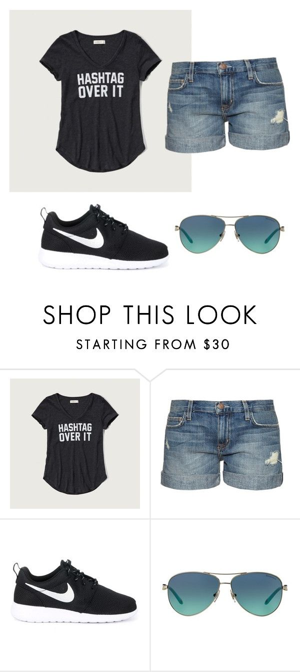 """""""Theme Park Outfit """" by kaylee-lynne-813 ❤ liked on Polyvore featuring Abercrombie & Fitch, Current/Elliott, NIKE and Tiffany & Co."""