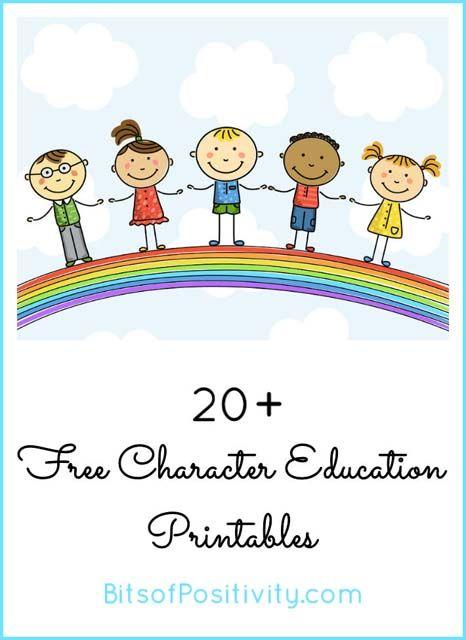 Free character education printables for Character Counts! Week the 3rd week in October or anytime throughout the year.
