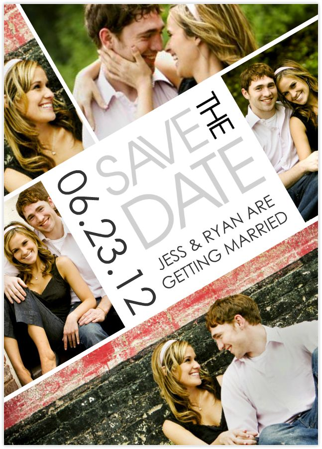 Let everyone know to pencil in your big day with Mixbook's customizable save the date cards!