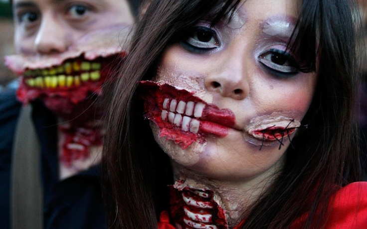 Zombie Walk in Bogota. #Colombia #Halloween #Zombie #Celebrate #South America #Travel
