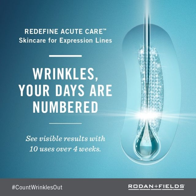 Wrinkles? Not any more..No Botox needed! Rodan + Fields Redefine Acute Care