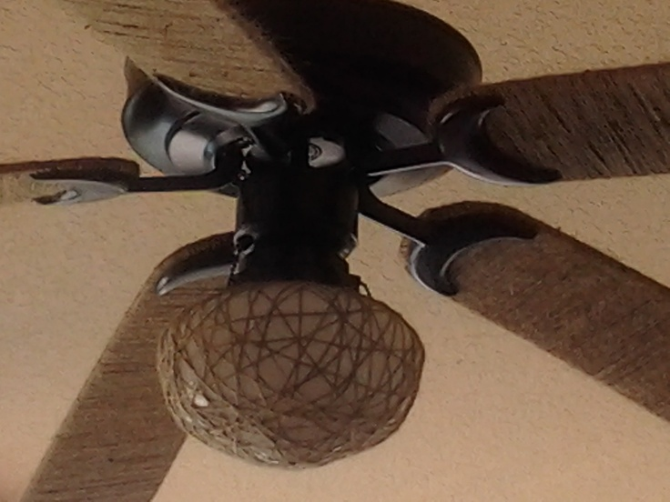Restyled My Outdoor Ceiling Fan With Jute Twine Http://www.dawnsditsydecor.