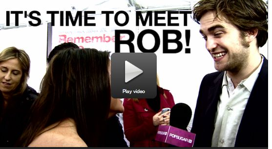 POPSUGAR: I'm a Huge Fan: Robert Pattinson and Remember Me Exclusive Interview on LA red carpet 2010