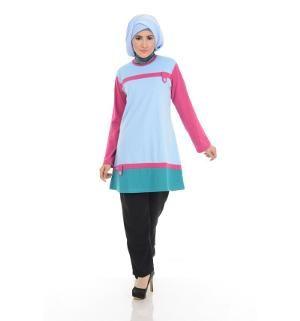 Baju Blus Tunik ALNITA AA-02 Biru Muda
