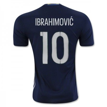Sverige 2016 Ibrahimovic 10 Borte Drakt Kortermet.  http://www.fotballteam.com/sverige-2016-ibrahimovic-10-borte-drakt-kortermet.  #fotballdrakter