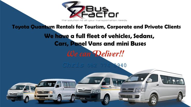 Vehicle fleets rentals and management  All vehicles! Sedan, 4x4, Quantum, Coaches