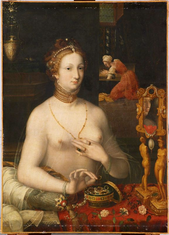 Title Woman At Her Toilette By Artist School Of Fontainebleau Ecole De Fontainebleau Charles Viii Poitiers