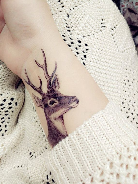 Mais de 1000 ideias sobre Deer Head Tattoo no Pinterest | Tatuagens