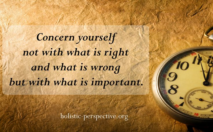 Theory of Holistic Perspective | What is important