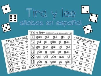 Students can use dice to roll and read Spanish syllables and sounds. This can be…