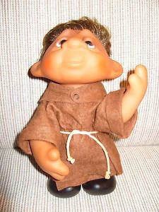 "Monk, (Dam 1982, 243) This is a Norfin Troll, made by DAM under its moniker ""Dam Things'""Troll Dolls, Monik Dam, Norfin Troll, Dam 1982, Friar Tuck, Childhood Delight, Tuck Troll, Originals Troll, Dam Things"