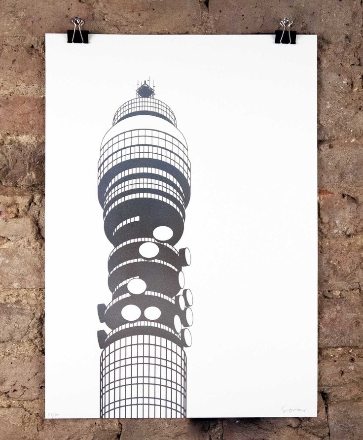 'BT Tower IV (Silver)' by Stefi Orazi £85. Available here: http://www.nellyduff.com/gallery/stefi-orazi/bt-tower-iv-silver
