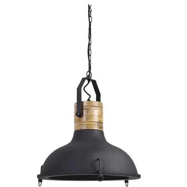 Deze hanglamp industrieel is geïnspireerd op de fabrieksarchitectuur en lampen van vroeger! Waan je in robuuste en industriële sferen met deze hanglamp industrieel. Een mooie aanvulling als je ervoor kiest je interieur stoer en robuust te maken! Deze hanglamp laat zich perfect combineren met robuuste en zware materialen en met oud gemaakte accessoires, grove houten meubels of bijvoorbeeld een bakstenen muur. Zo creëer je echt de oude industriële stijl van de jaren '20, '30 en '40....