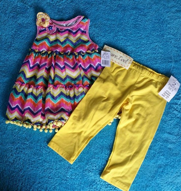 Rare Too girls toddler outfit 4t fun chevron print with yellow leggings NEW    Clothing, Shoes & Accessories, Baby & Toddler Clothing, Girls' Clothing (Newborn-5T)   eBay!