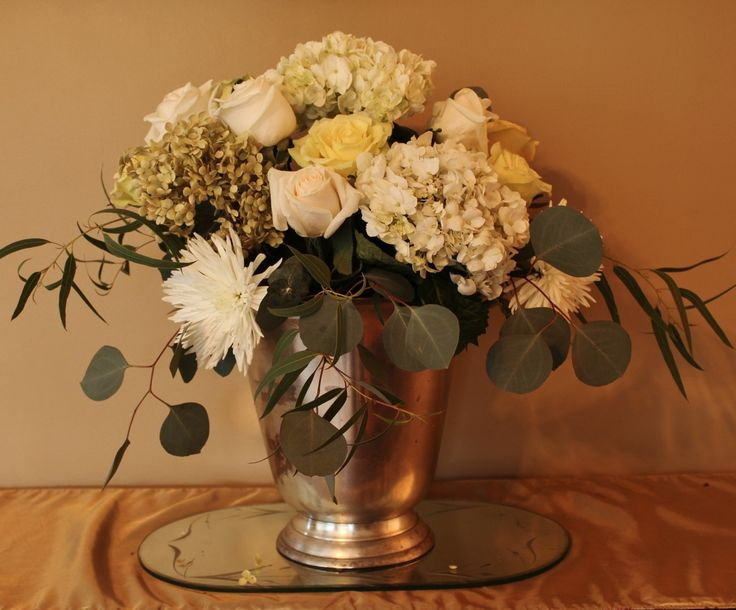 53 best flower arranging images on pinterest floral arrangements if not done right a white floral arrangement can wind up looking like funeral flowers mightylinksfo Gallery