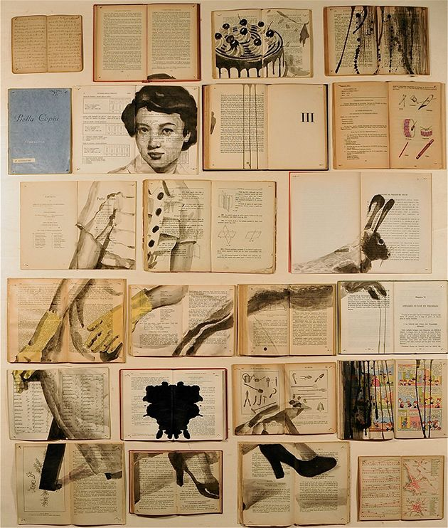 Wenn der gebürtigen RussinEkaterina Panikanova alte Bücher in die Hände fallen, verwandeln die sich in ein Gesamtkunstwerk. Sie benutzt zum Zeichnen nämlich keine Leinwand oder Papier, sondern die Innenseiten von alten Büchern. Und weil das Format eines B