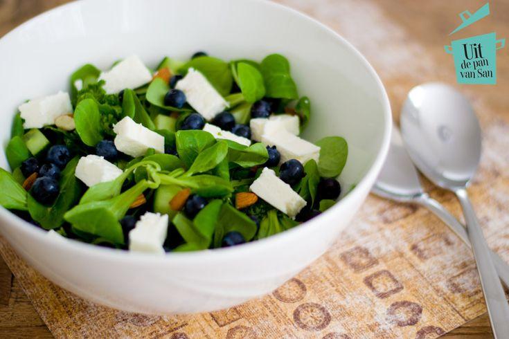 Salade met bosbessen - Uit de pan van San