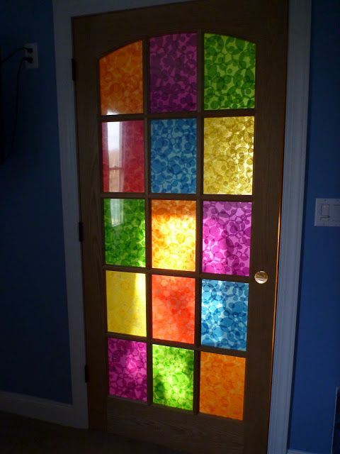 Obsessed With Paper Art: Decoupaged Stained Glass French Doors