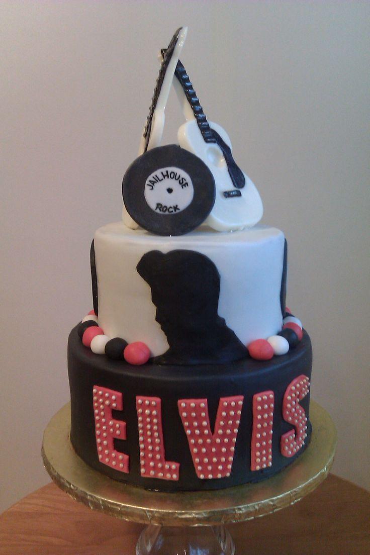 193 Best Elvis Cakes Images On Pinterest Birthday Cake Elvis