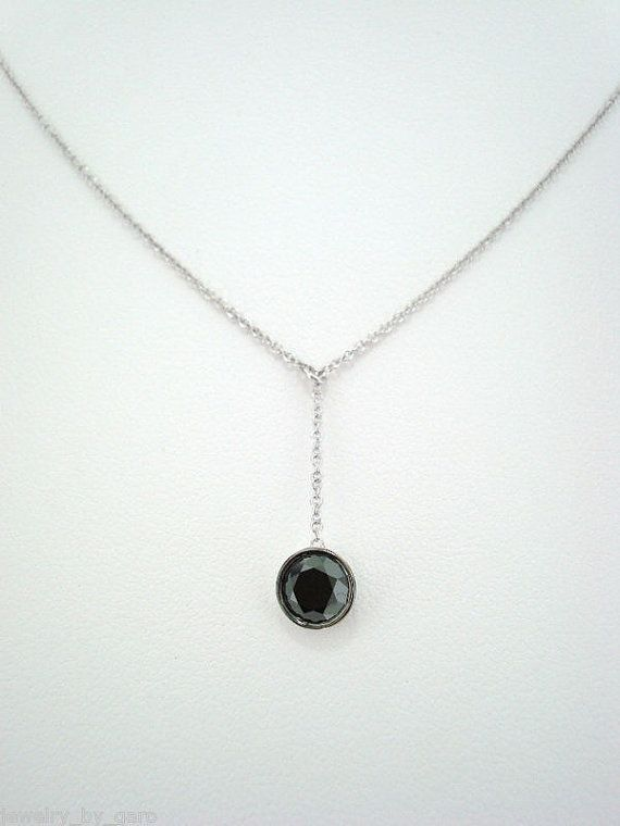 14K White Gold Fancy Black Diamond By The Yard by JewelryByGaro, $790.00