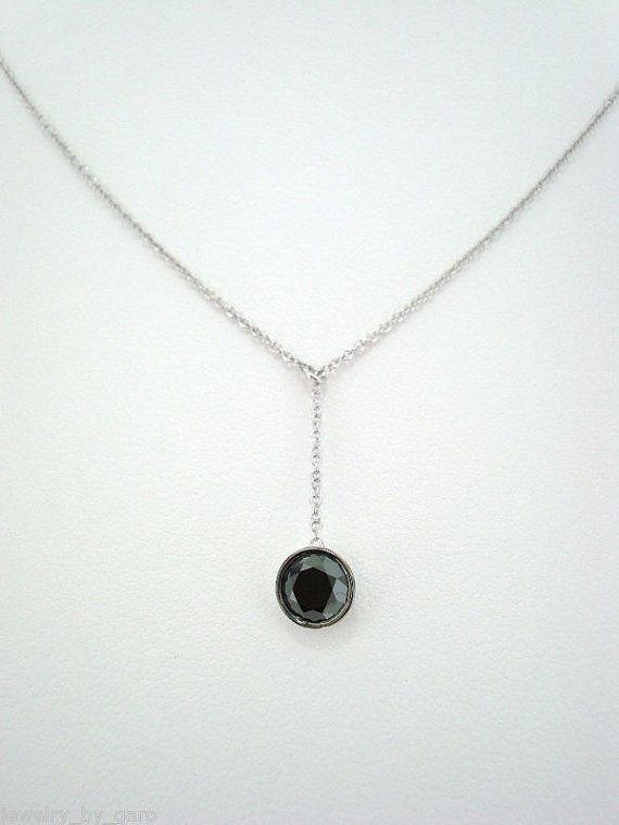 14K White Gold Fancy Black Diamond By The Yard by JewelryByGaro, $790.00