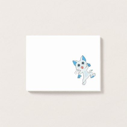 Cute Excited Cat Dancing Post-it Notes - diy cyo customize create your own #personalize
