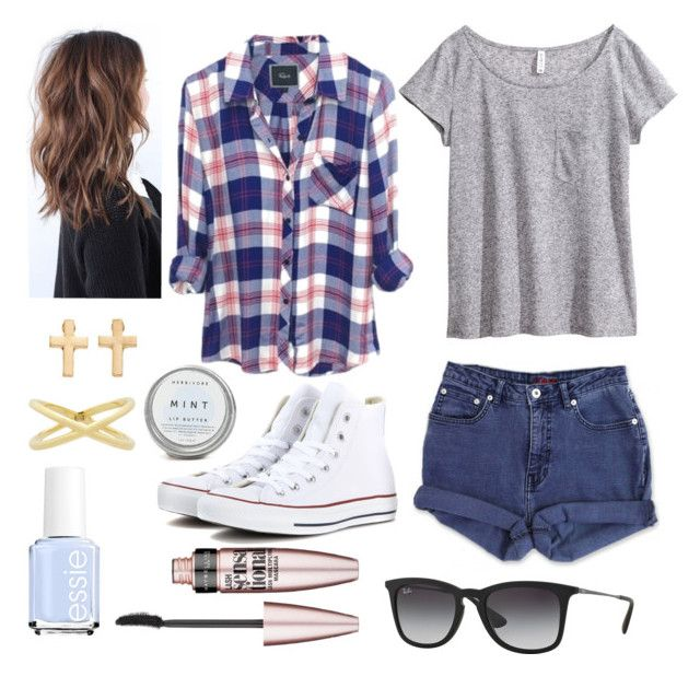 Teen Wolf- Stiles Stilinski Inspired Outfit by lili-c on Polyvore featuring H&M, Jag, Converse, Mudd, Eva Fehren, Ray-Ban, Maybelline and Essie