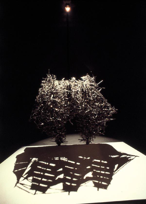 Un tas d'ordures, ou un enchevêtrements de fils de fer, et un bon éclairage : voici les ingrédients utilisés par ces artistes pour produire des sculptures d'ombre et de lumière, un peu magiques.