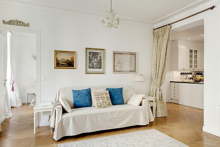Small But Beautiful Vintage Paris Apartment White