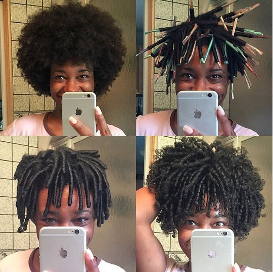 4A/4B Straw Set On Natural Hair